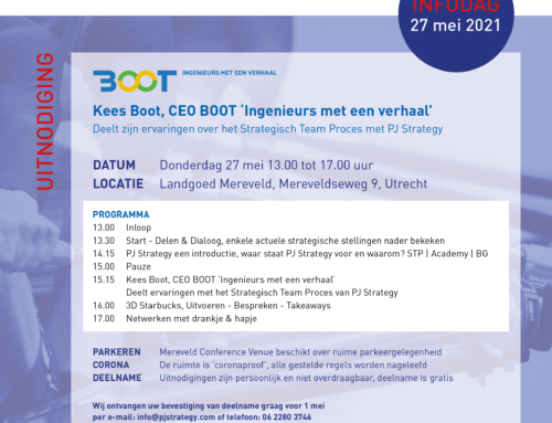 CEO Kees Boot shares his experiences with PJ Strategy | May 27 | Info afternoon session PJ Strategy